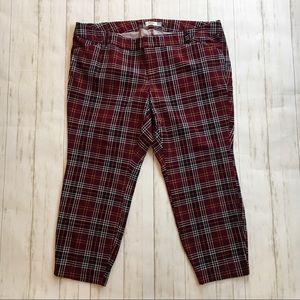 Old Navy Daisy Cropped Ankle Pants in Purple Plaid